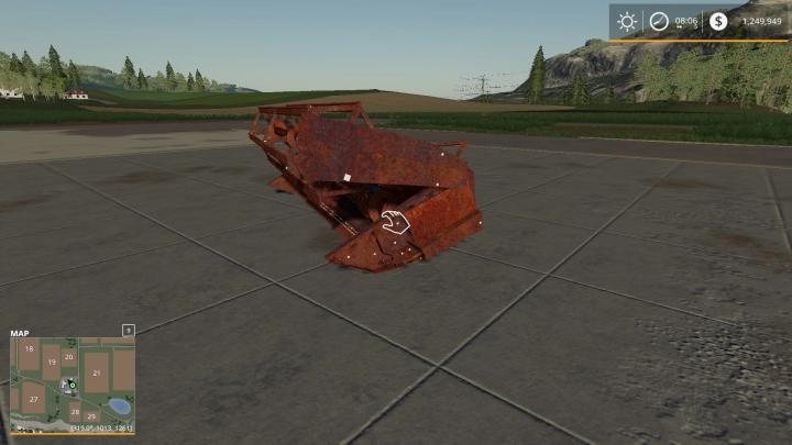 FS19 - Rusty Old Header V1.0