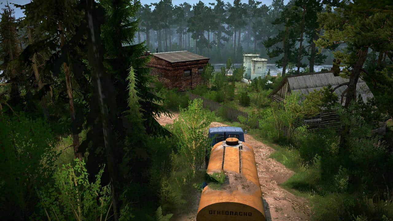 "Spintires:Mudrunner - Forestry ""Pushkino-4"" Map V06.10.19"