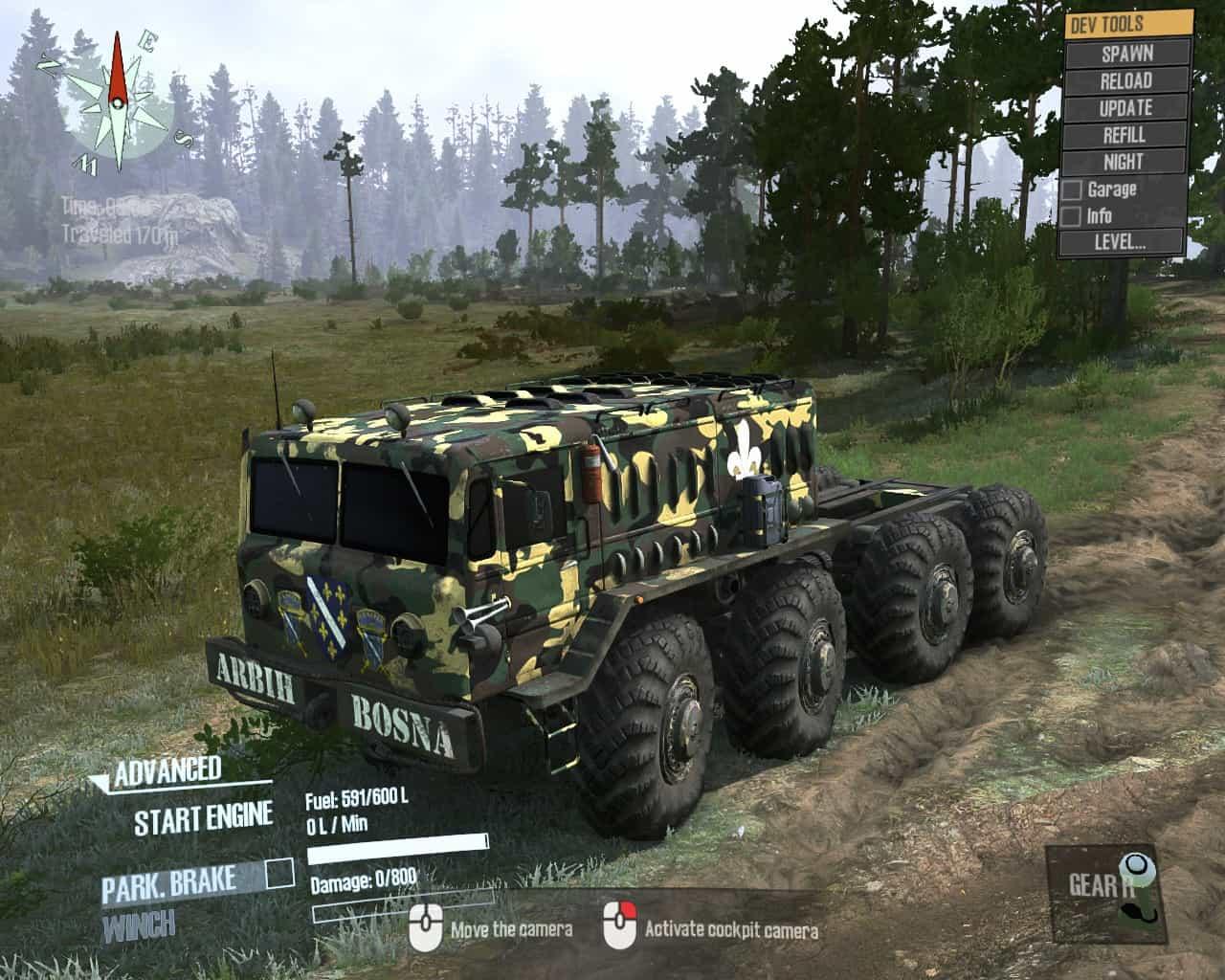 Spintires:Mudrunner - Maz 535 Bosnia Army Camo Style Bosna Truck