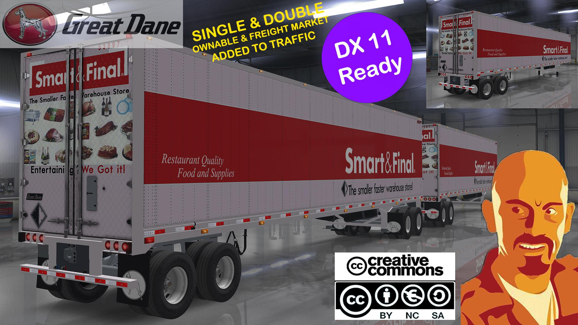 ATS - Great Dane Trailers Single & Doubles Ownables (1.35.X)