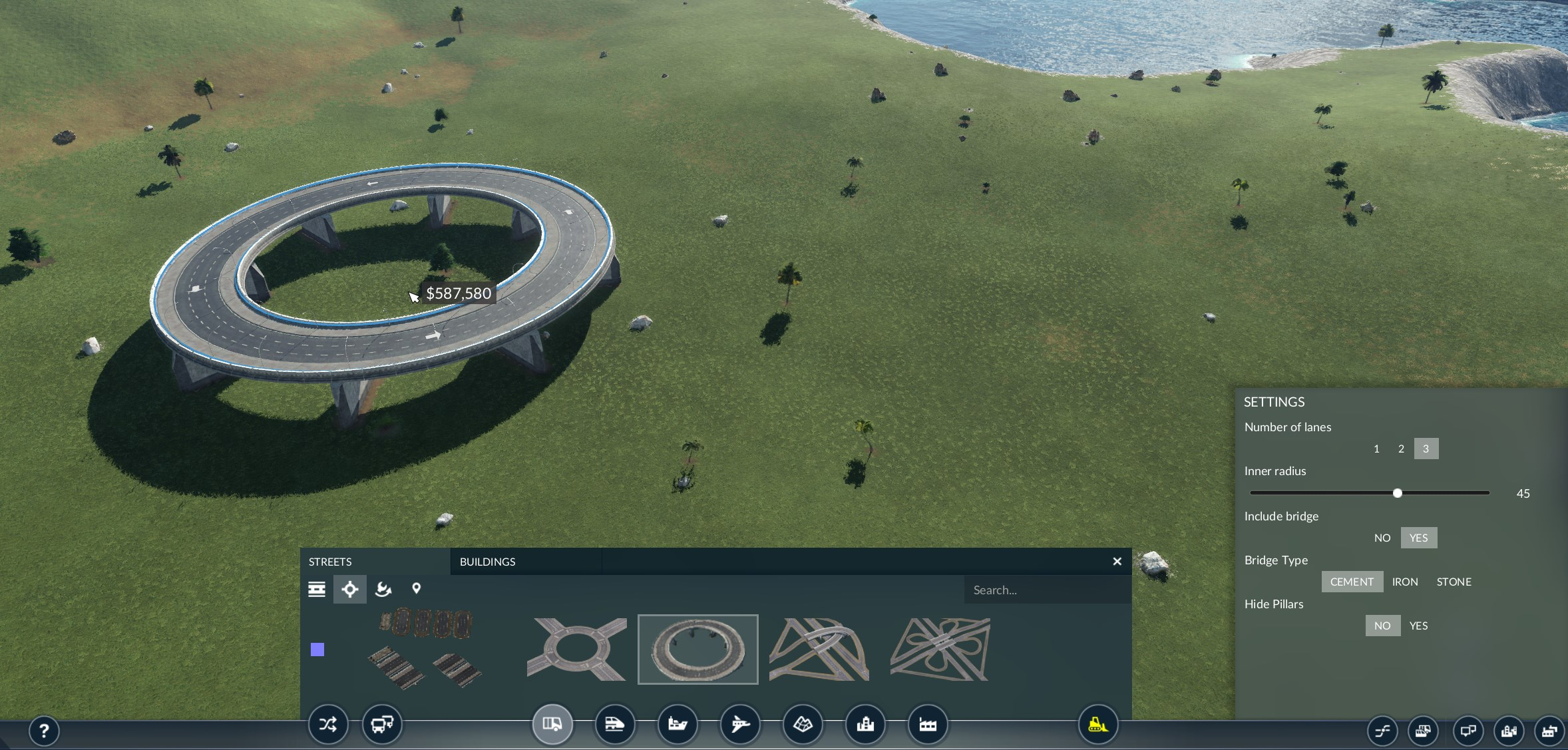Transport Fever 2 - Better Roundabout
