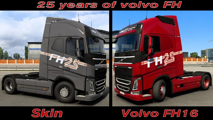 ETS2 - 25 Years of Volvo FH Skin V1.0 (1.39.x)