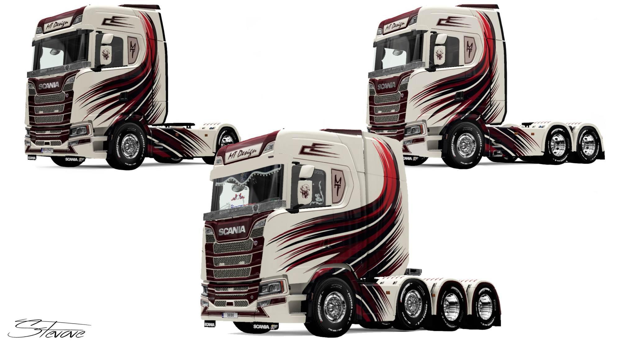 ETS2 - Scania S MT Design Skin V1.0 (1.36.x)