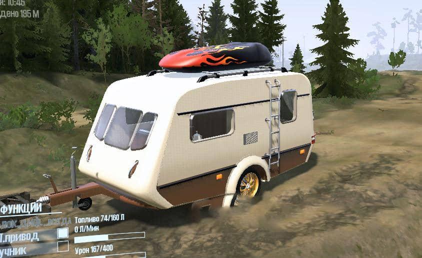 Spintires:Mudrunner - Caravan Trailer V01