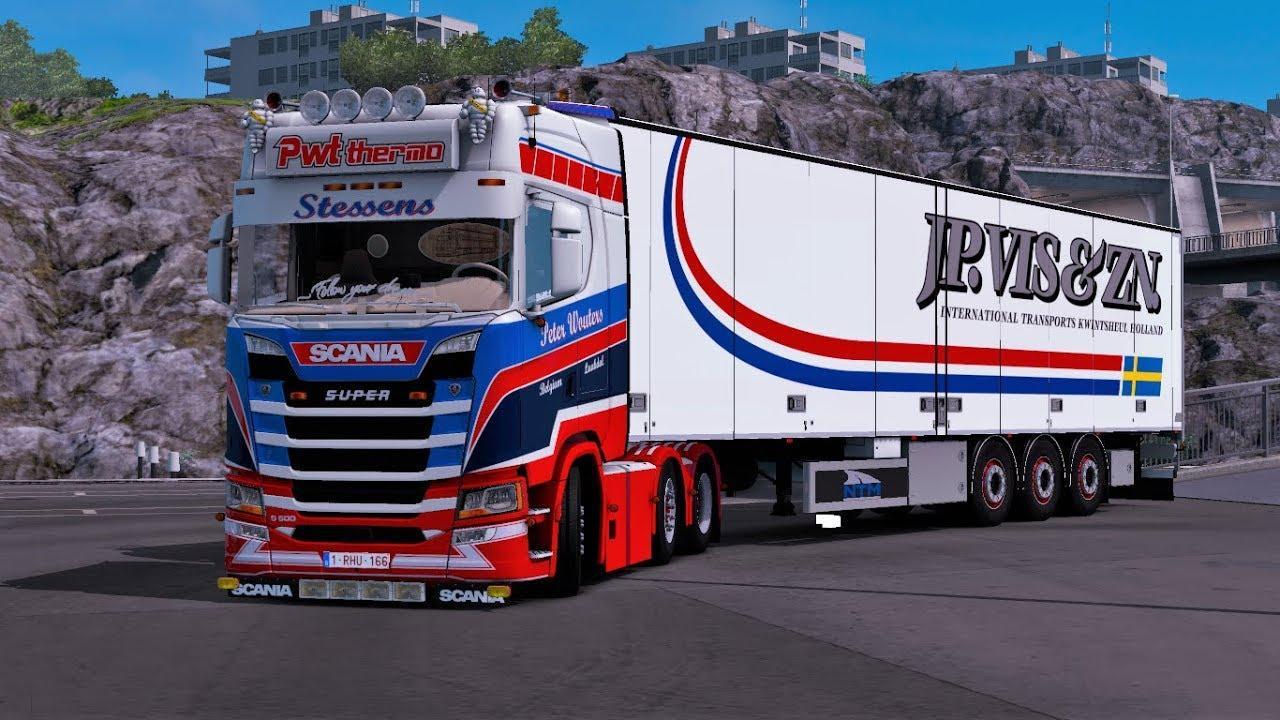 ETS2 - Scania S500 PWT Stessens + Trailer (1.38.x)