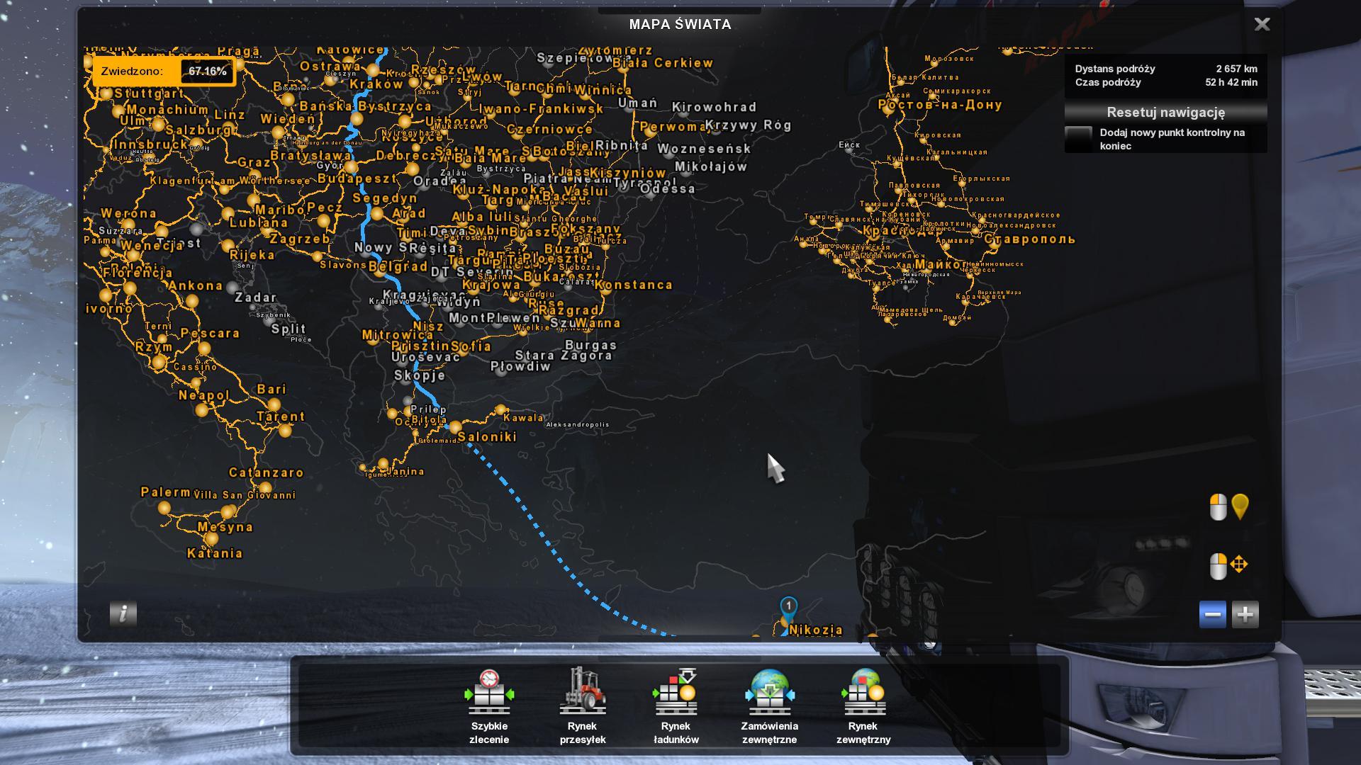 ETS2 - Gps RG Pro Fix Big Map V2.0 (1.36.X)