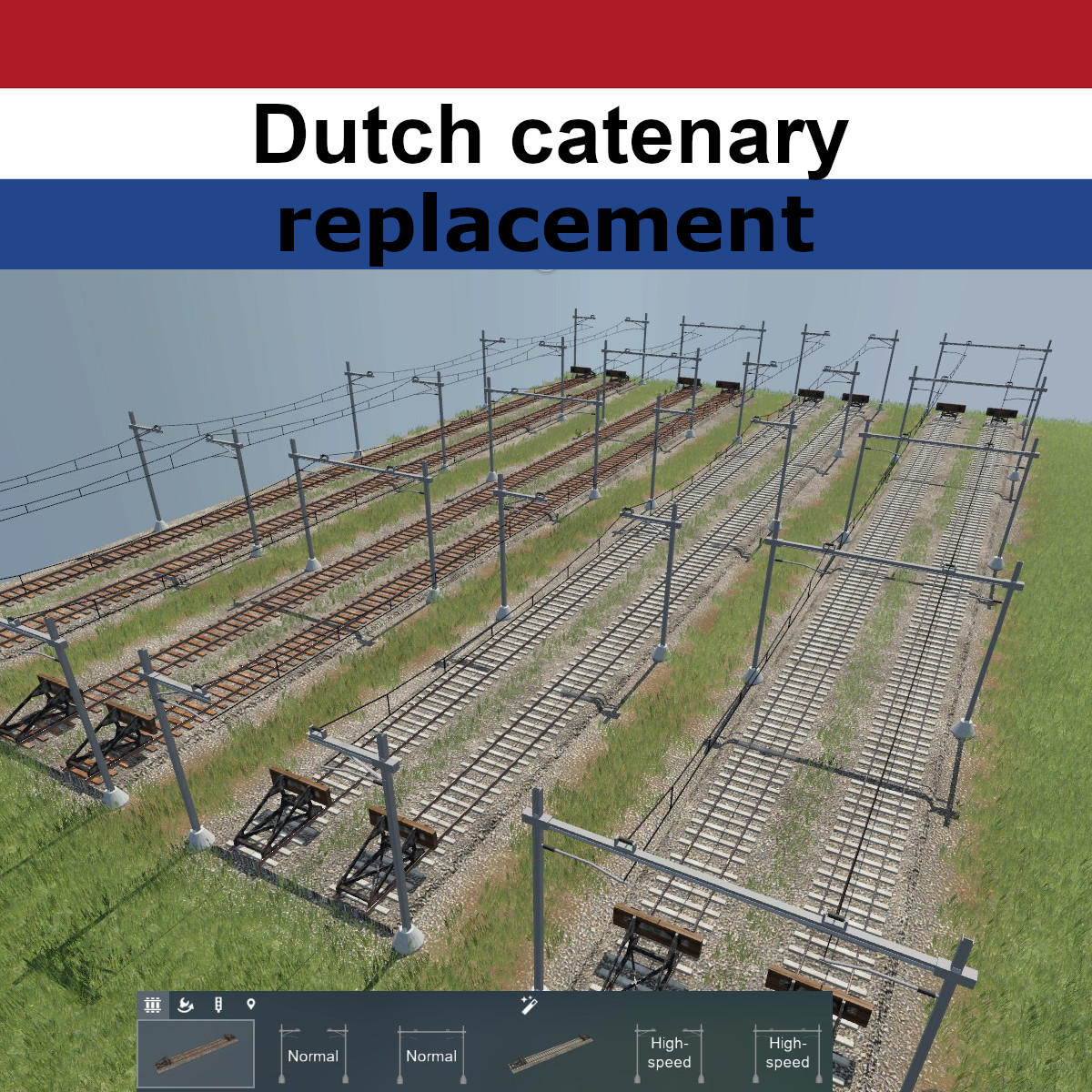 Transport Fever 2 - Dutch Catenary (Replacement)