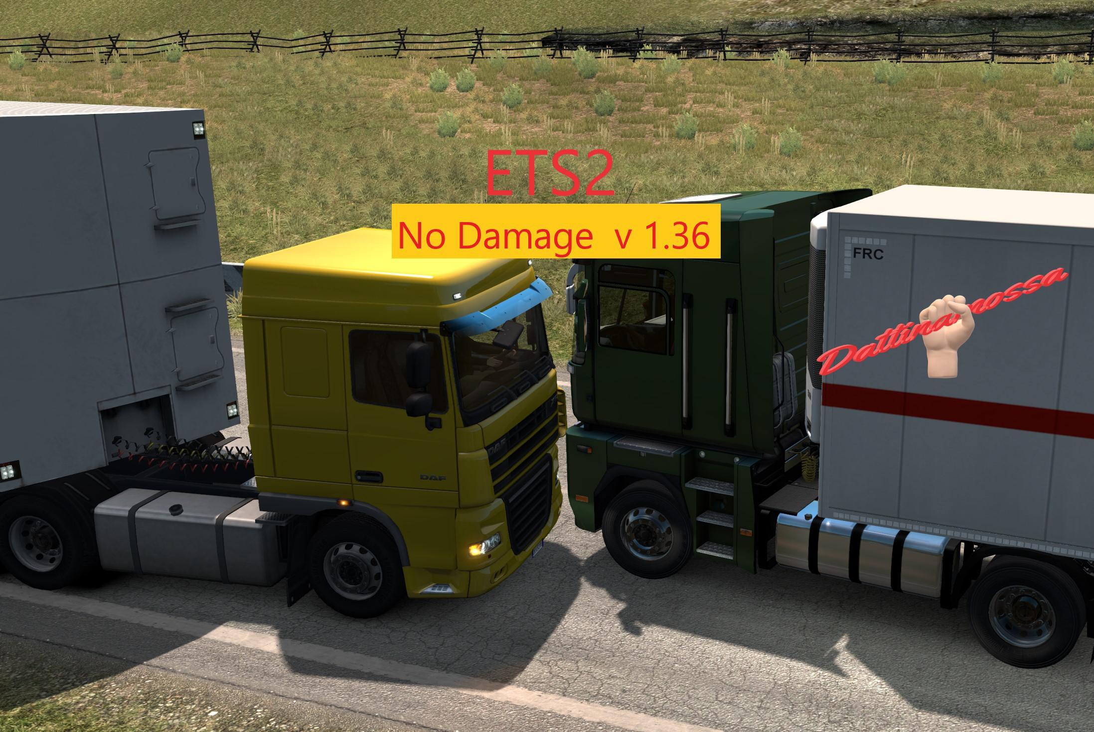 ETS2 - No Damage Mod V1.0 (1.36.x)