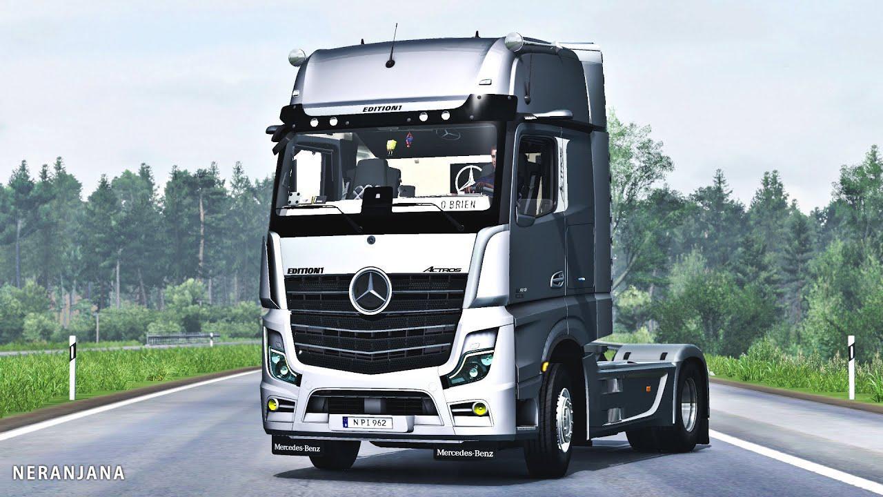 ETS2 - Mercedes Benz New Actros 2020 Mirror Cam (1.37.x)