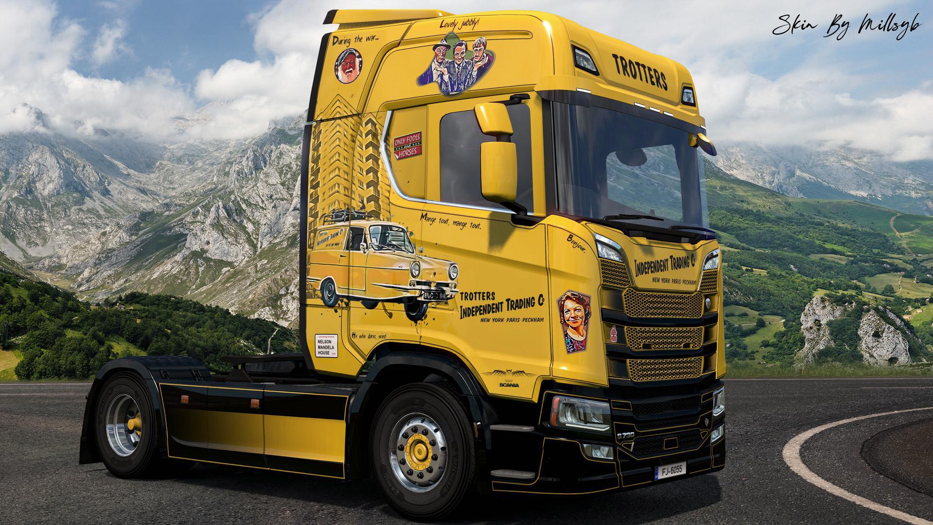 ETS2 - Only Fools & Horses NG Scania Skin V1.0 (1.36.x)