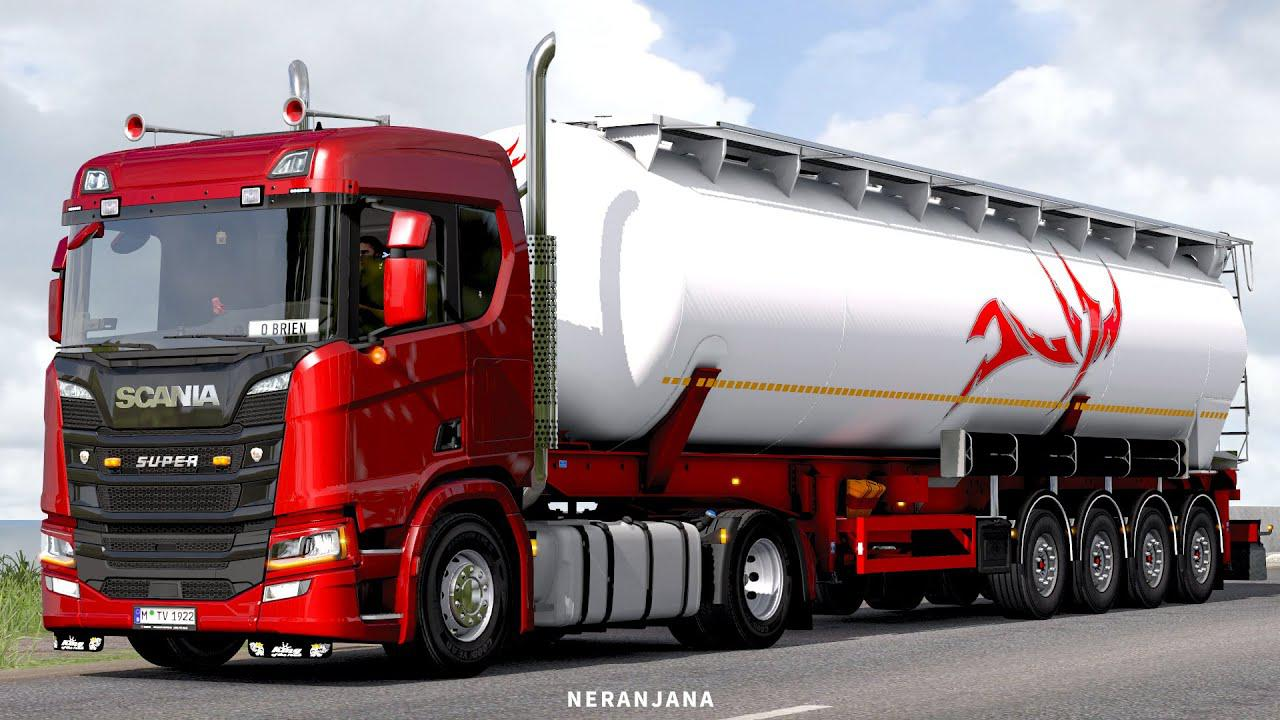 ETS2 - Scania L6 Straight Open Pipe Sound Mod V2.1 (1.38.x)