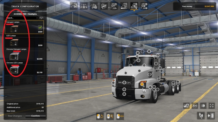 ATS - Headlight Options (Led) for New Light System (1.40.x)