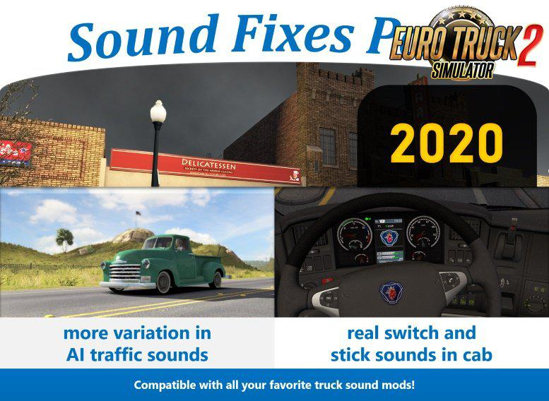 ATS - Sound Fixes Pack V20.0 (1.36.x)