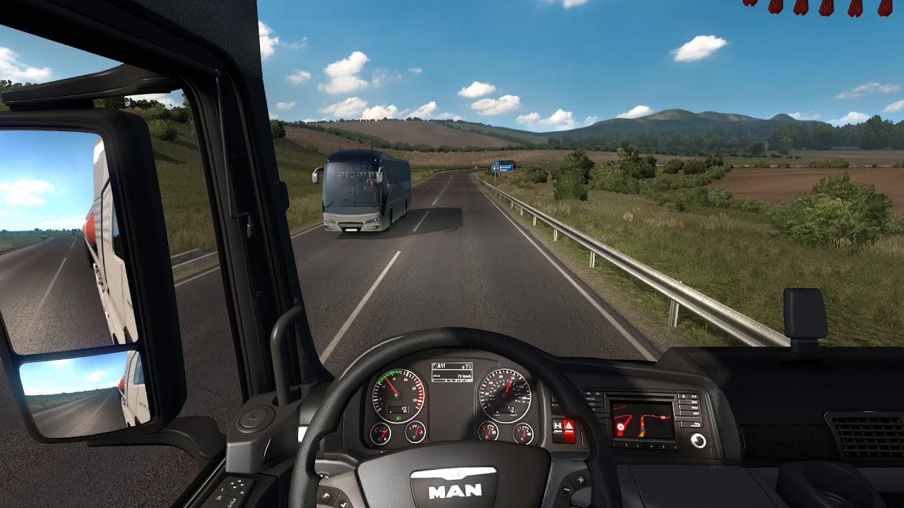 ETS2 - Realistic Steering & Suspension with Keyboards (1.36.x)
