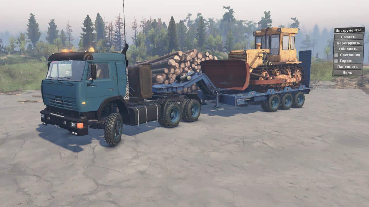 Spintires - KamAZ-54115 Yamz-238 Truck V1.0