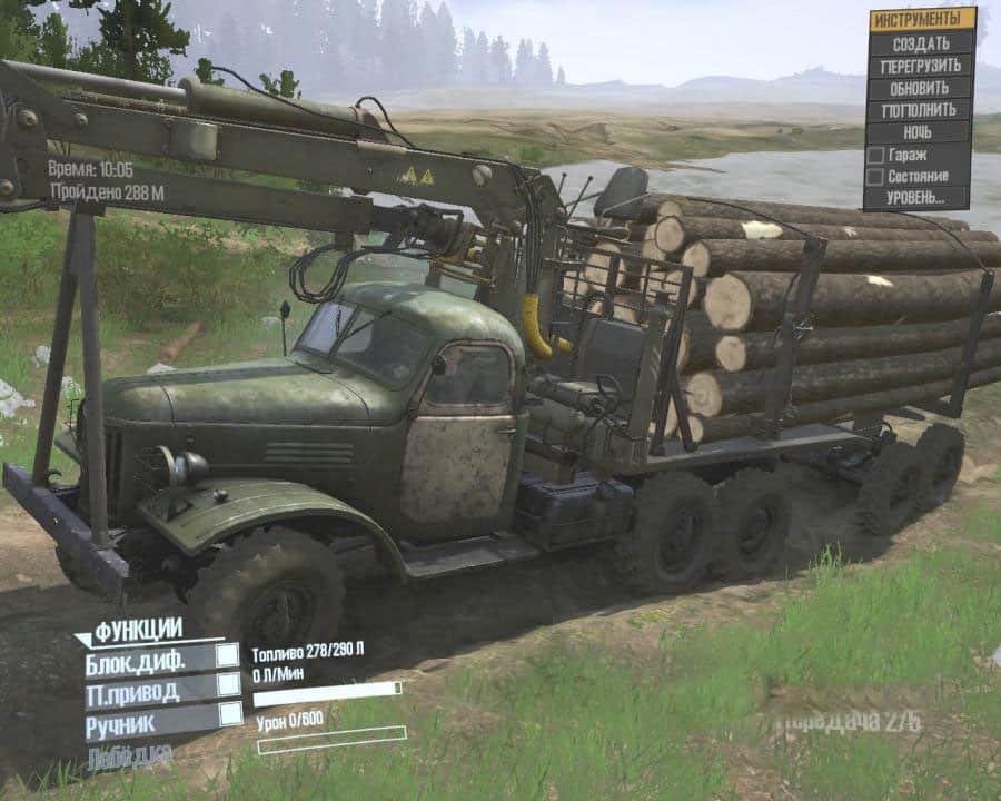 Spintires:Mudrunner - Zil-157 Truck from DLC Chernobyl V10.06.19