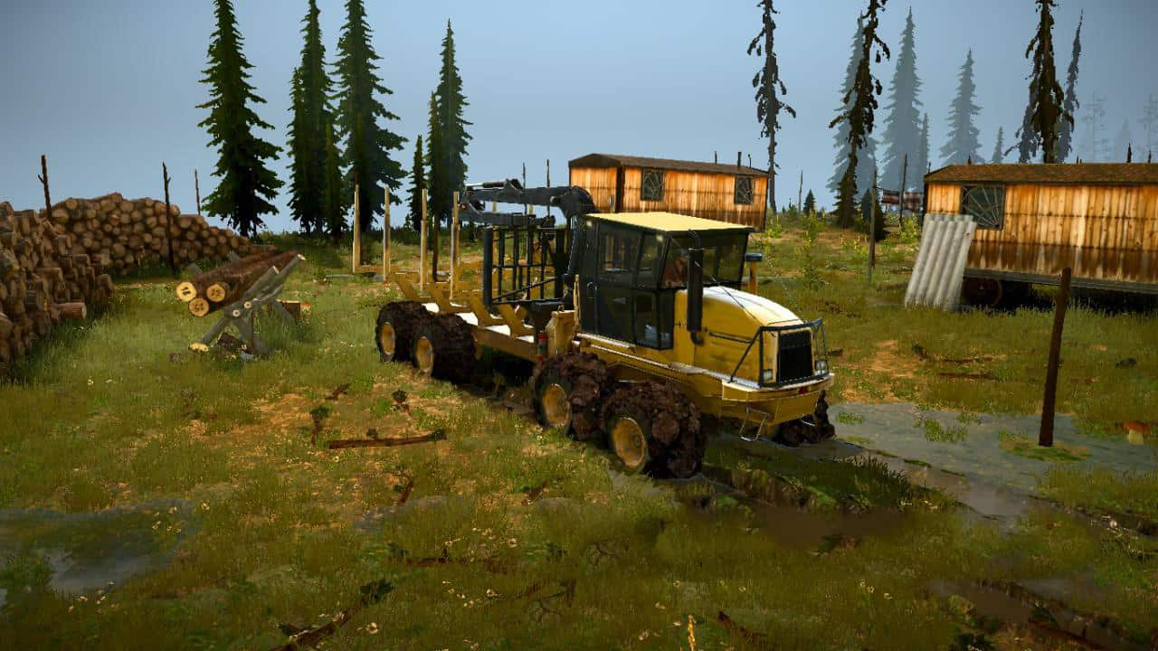 Spintires:Mudrunner - Back to The Future Map V1