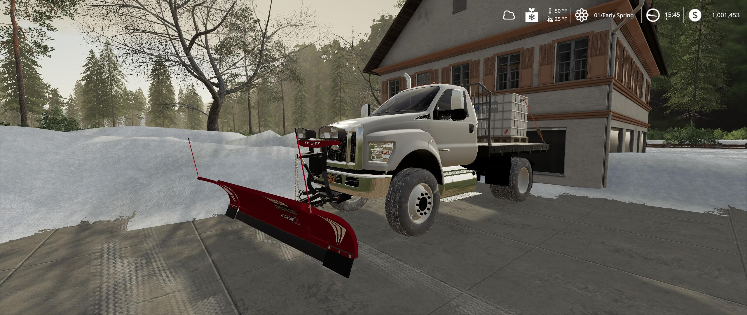 FS19 - Ford F750 Flatbed Plow Truck V1.0
