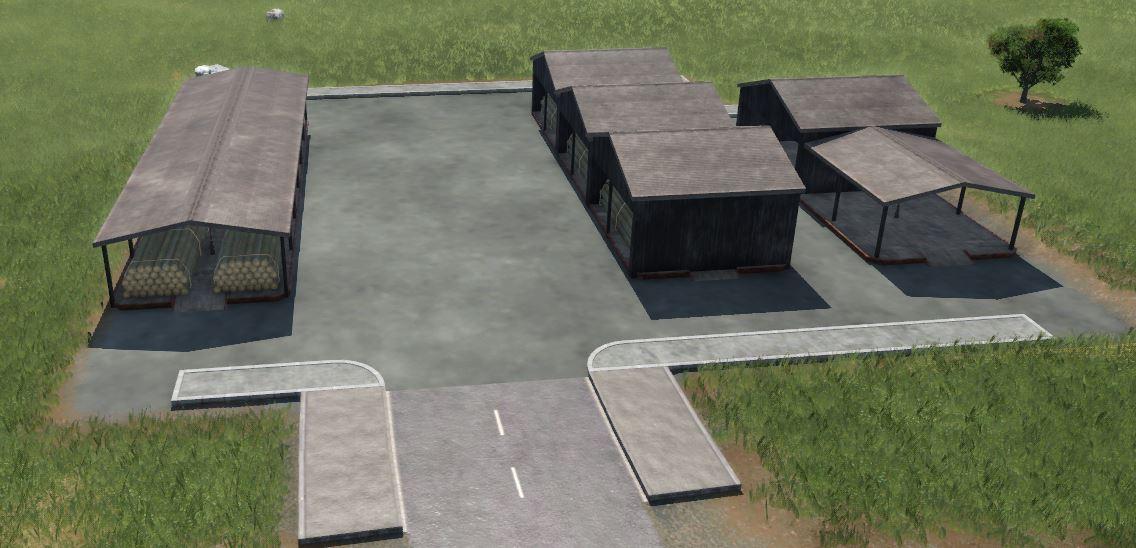 Transport Fever 2 - Covered Cargo Platforms for Truck Station