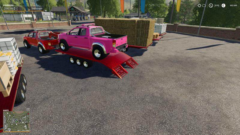 FS19 - 2014 Pickup with Semi-Trailer And Autoload V1.8