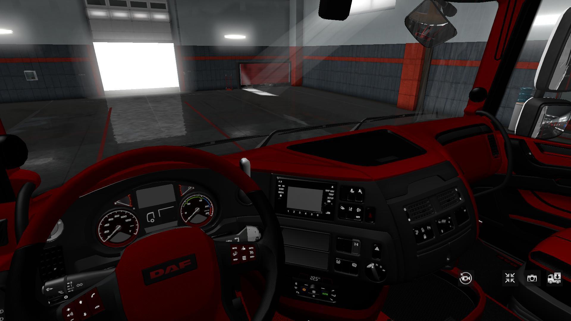 ETS2 - Daf Xf 106 Red-Black Exclusive Interior V1.0 (1.35.X)