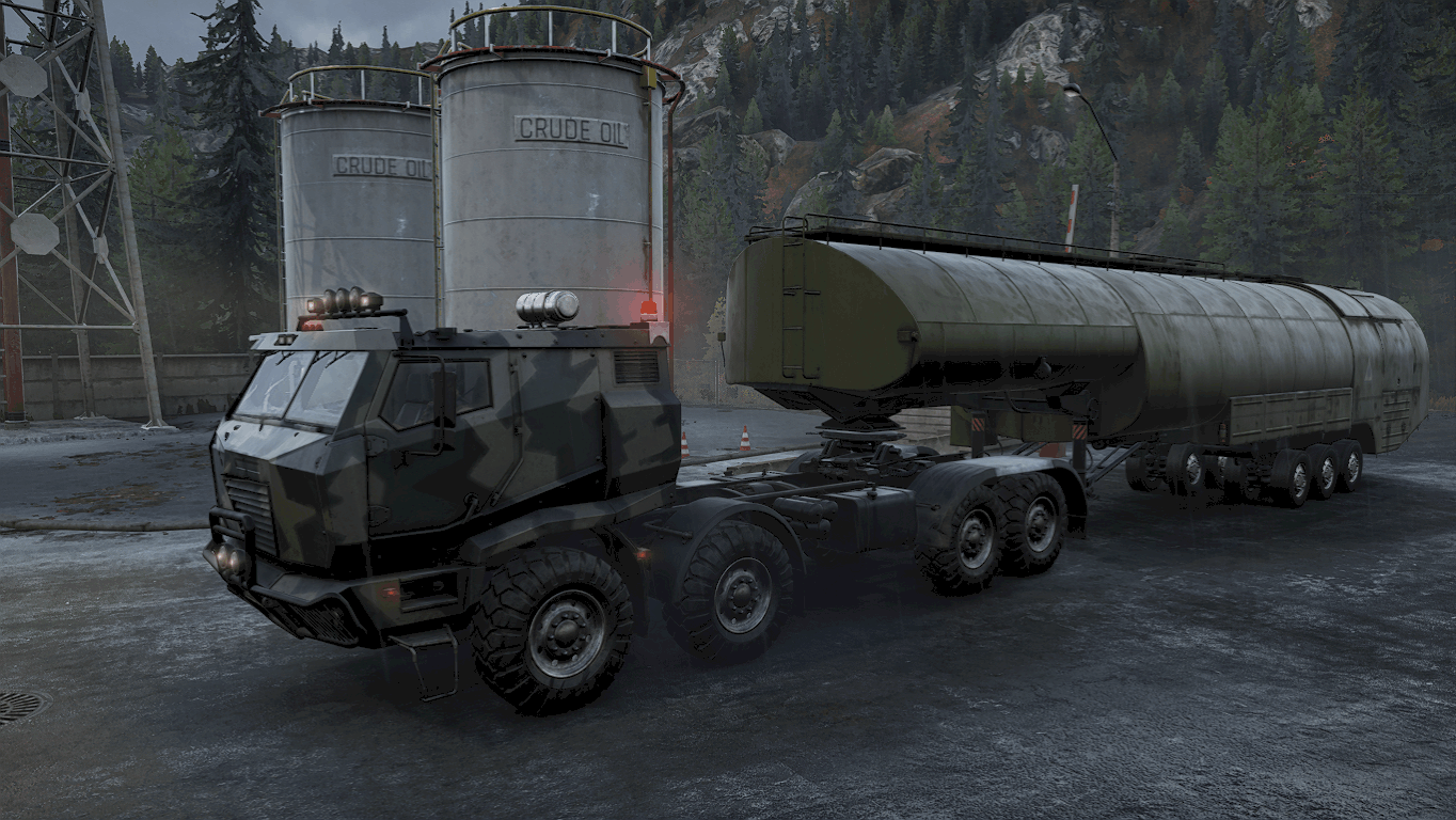 SnowRunner - 5000L Heavy Fuel Tanker Semi-Trailer V3.0 Beta
