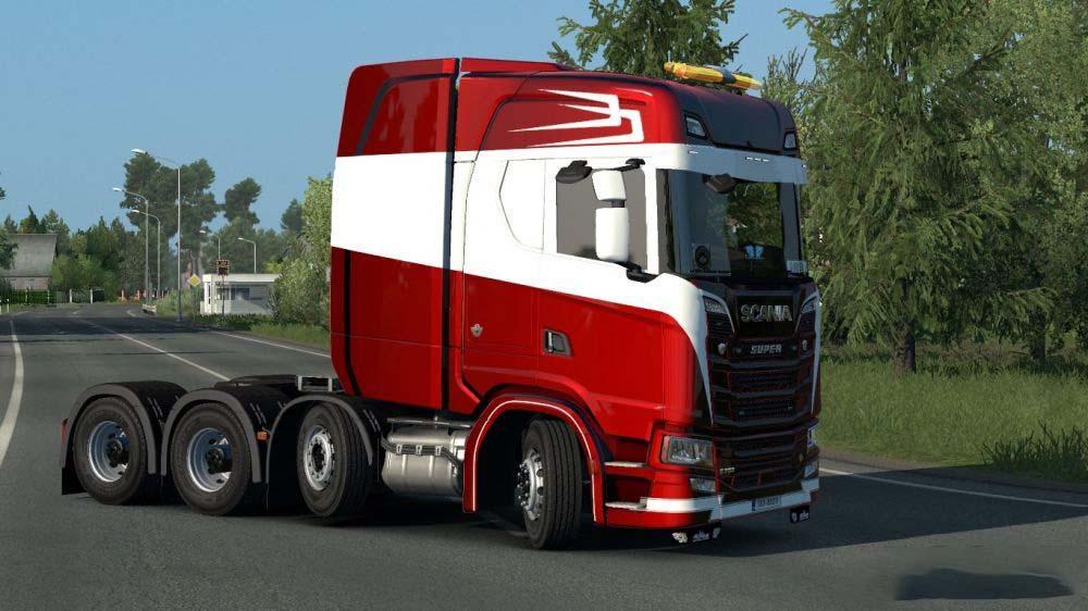 ETS2 - Scania S 8x4 Metallic Skin V1.0 (1.35.X)