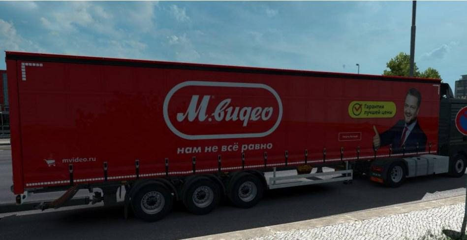 ETS2 - Mod Skin Video for M. Standard Trailer V1.0 (1.35.X)