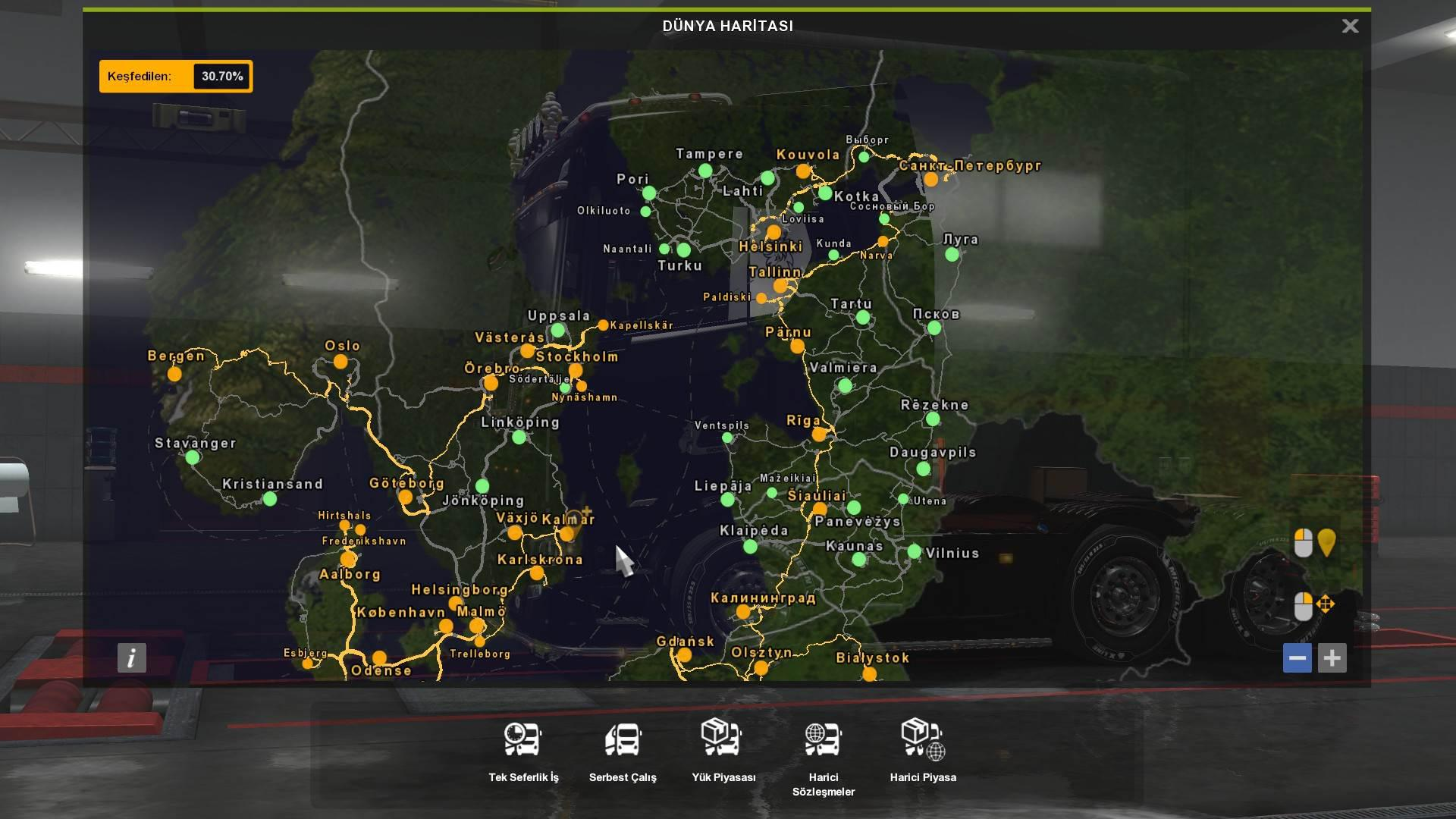 ETS2 - HD and Colored Map V1.0 (1.35.X)