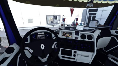 ETS2 - Renault T Black White Interior V1.0 (1.35.X)