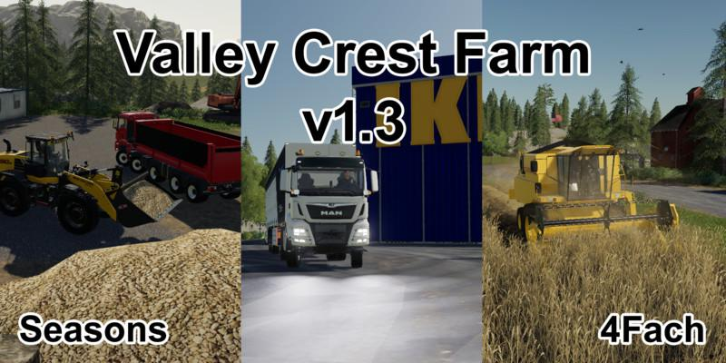 FS19 - Valley Crest Farm 4X Map V1.3