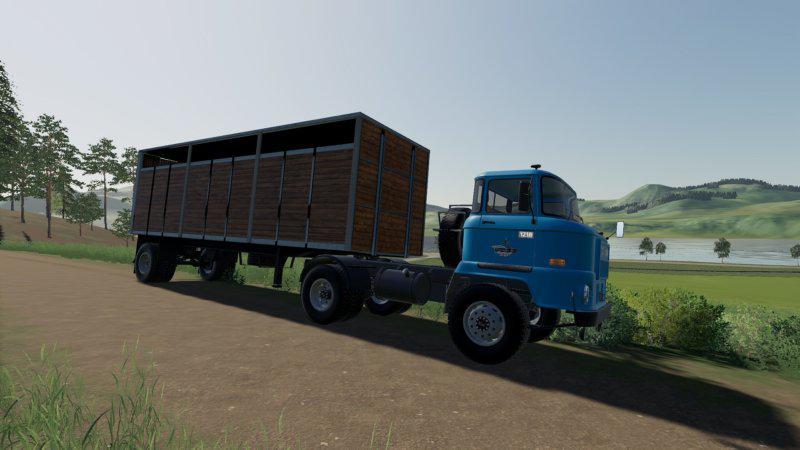 FS19 - HLS Viehtransport Sattel V1.0
