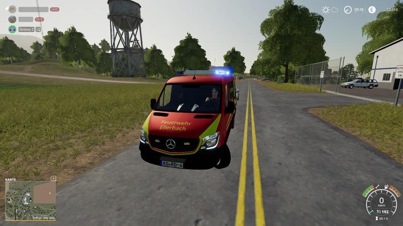 FS19 - Fire Brigade Ellerbach Sprinter V1.2