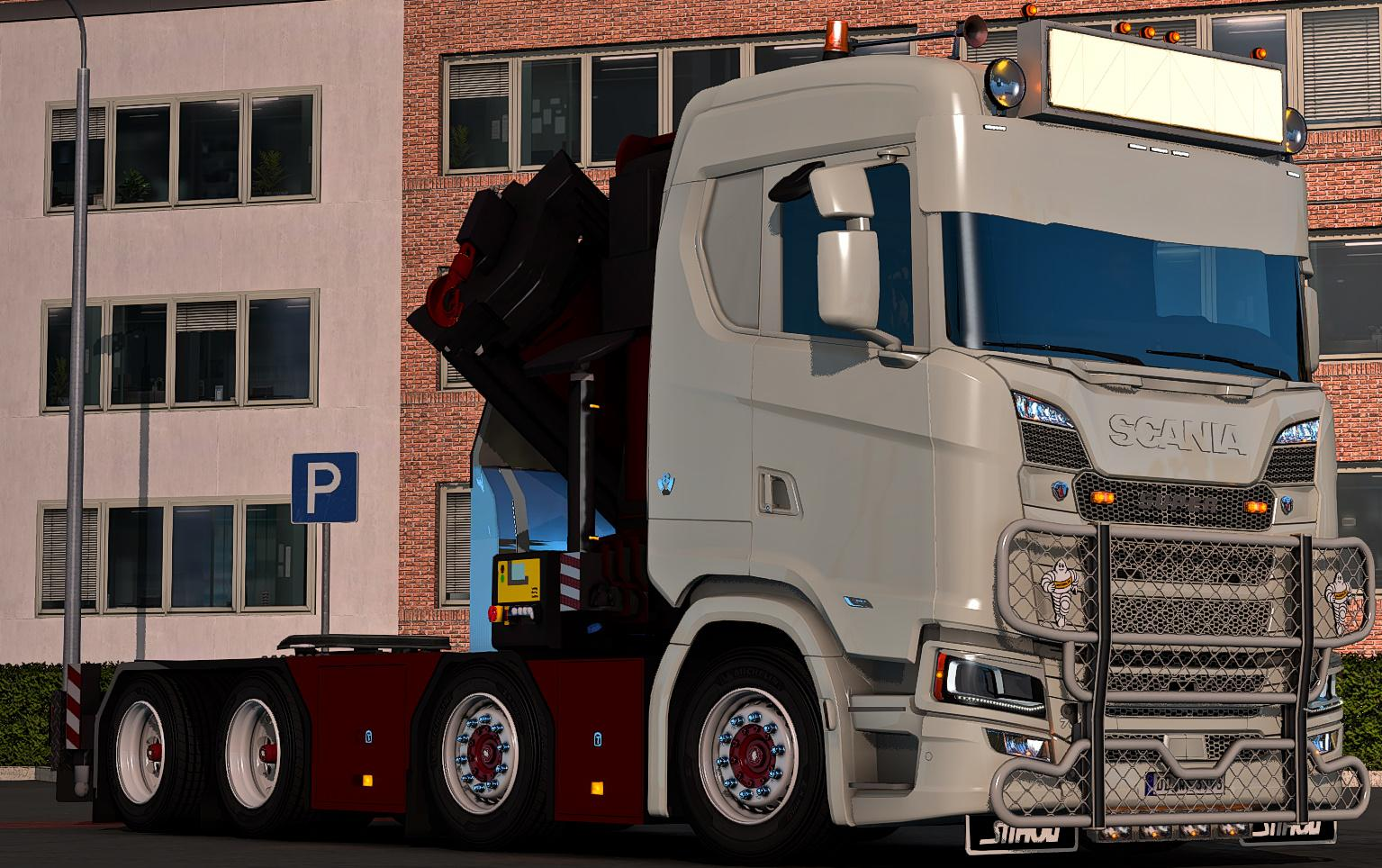 ETS2 - Scania Ng Crane Chassi V1.0 (1.38.x)