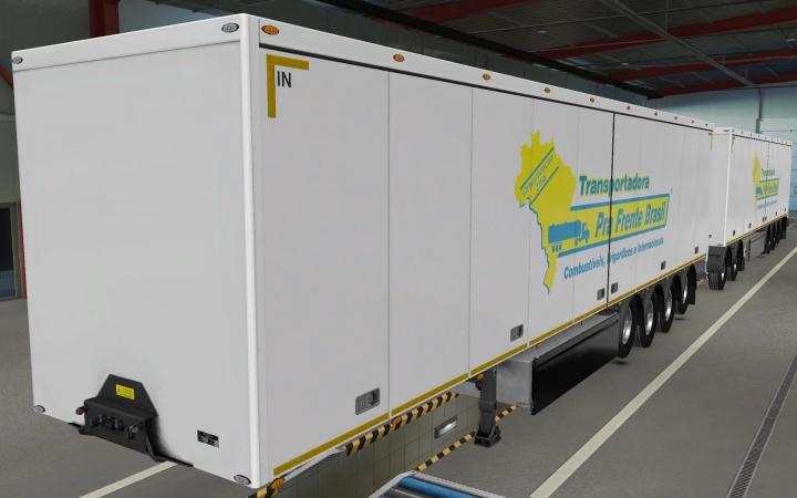 ETS2 - Owned Trailers SCS Transportadora PRA Frente Brasil Skin (1.40.x)