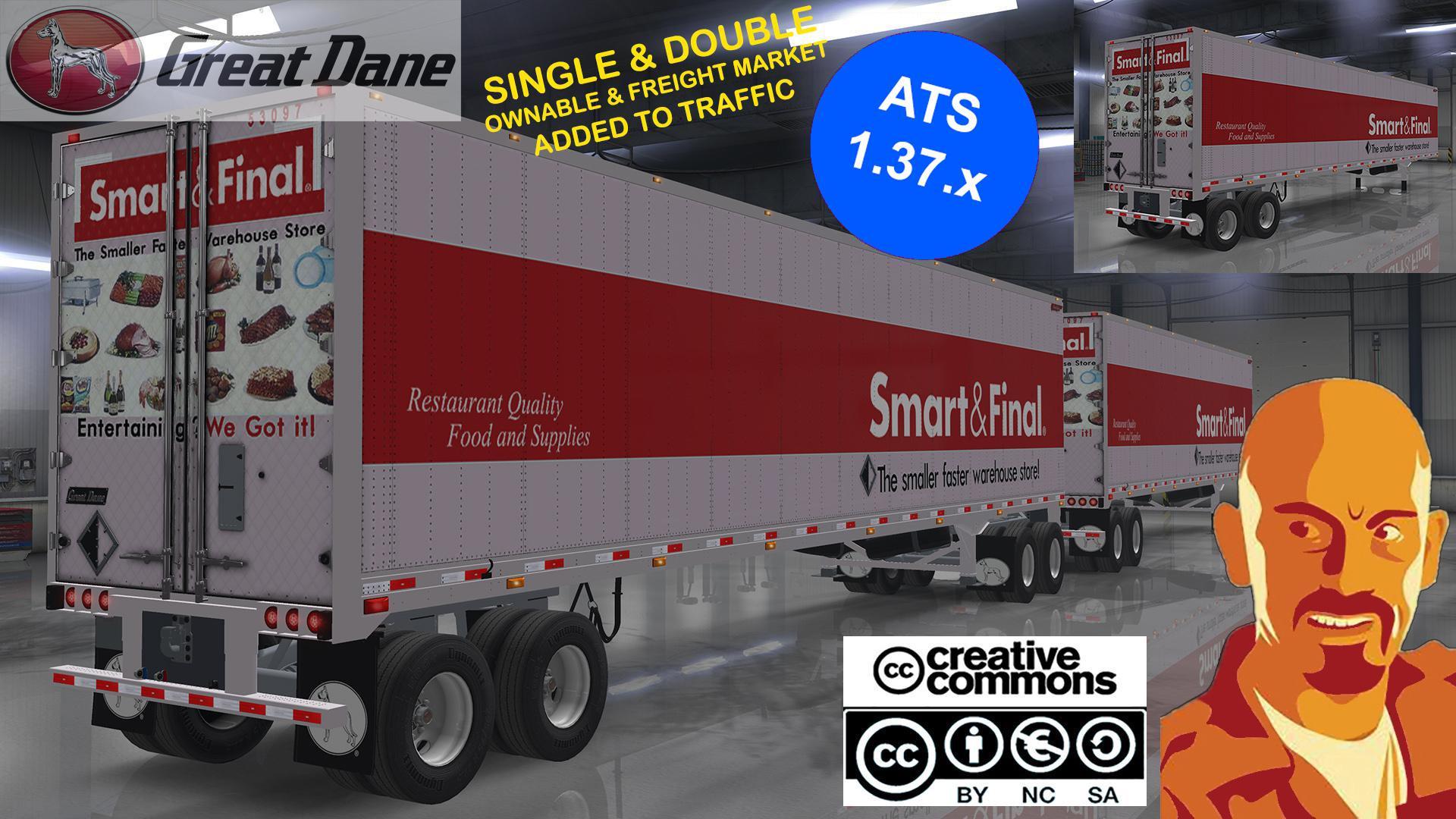 ATS - Great Dane Trailers Single & Double (1.37.x)