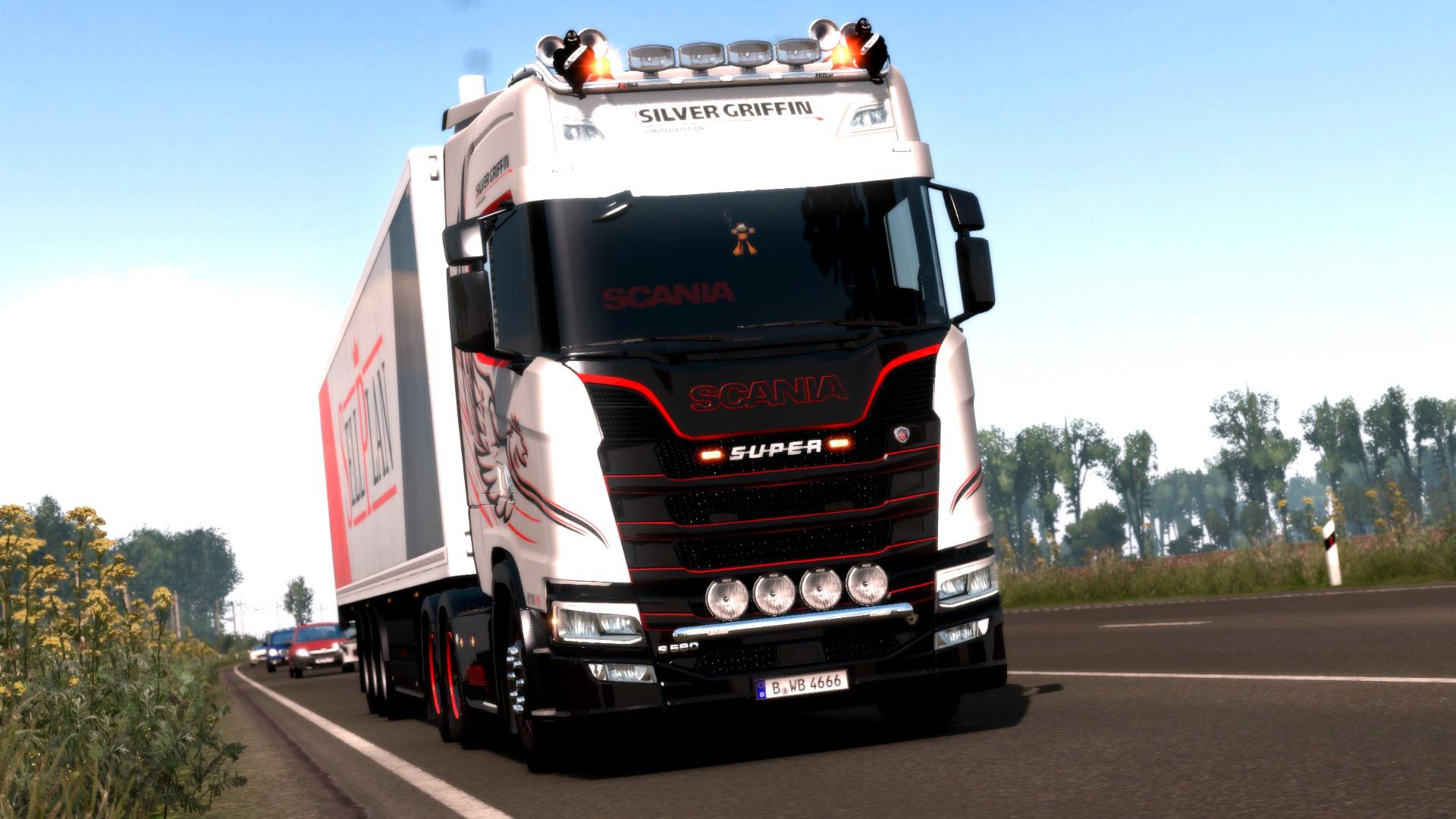 ETS2 - Scania S/R Red & Dark Interior V1.0 (1.37.x)