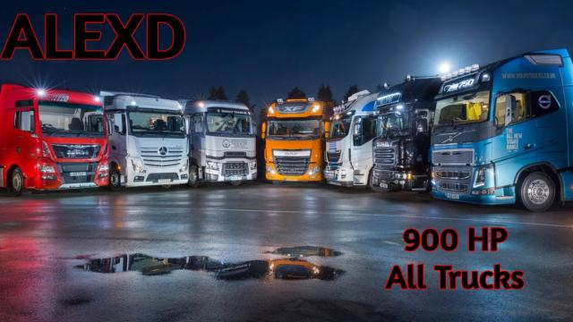 ETS2 - 900 HP Engines for All Trucks V1.8 (1.39.x)