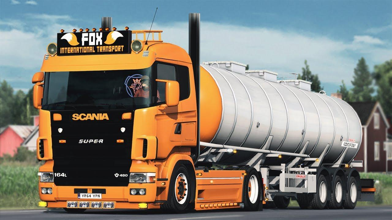 ETS2 - Scania 4 Series V8 Open Pipe Sound (1.37.x)