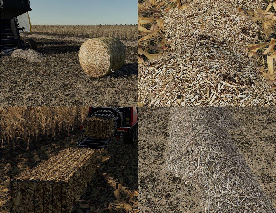 FS19 - Corn & Soybean Straw Bales V1.0