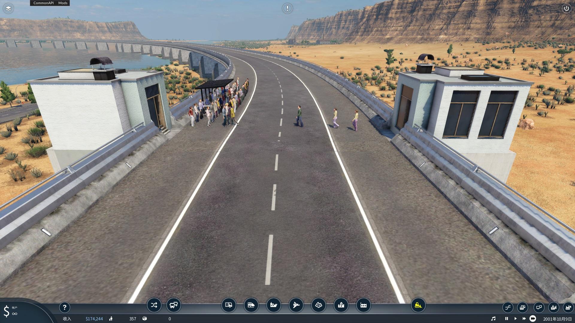 Transport Fever 2 - Elevator for Road Bridges and Tunnels