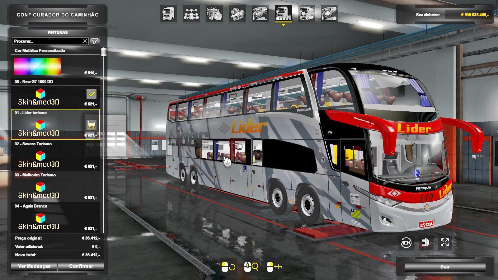 ATS - Marcopolo Paradis New G7 1800 DD CD3DSHOP Bus Mod (1.35.X)