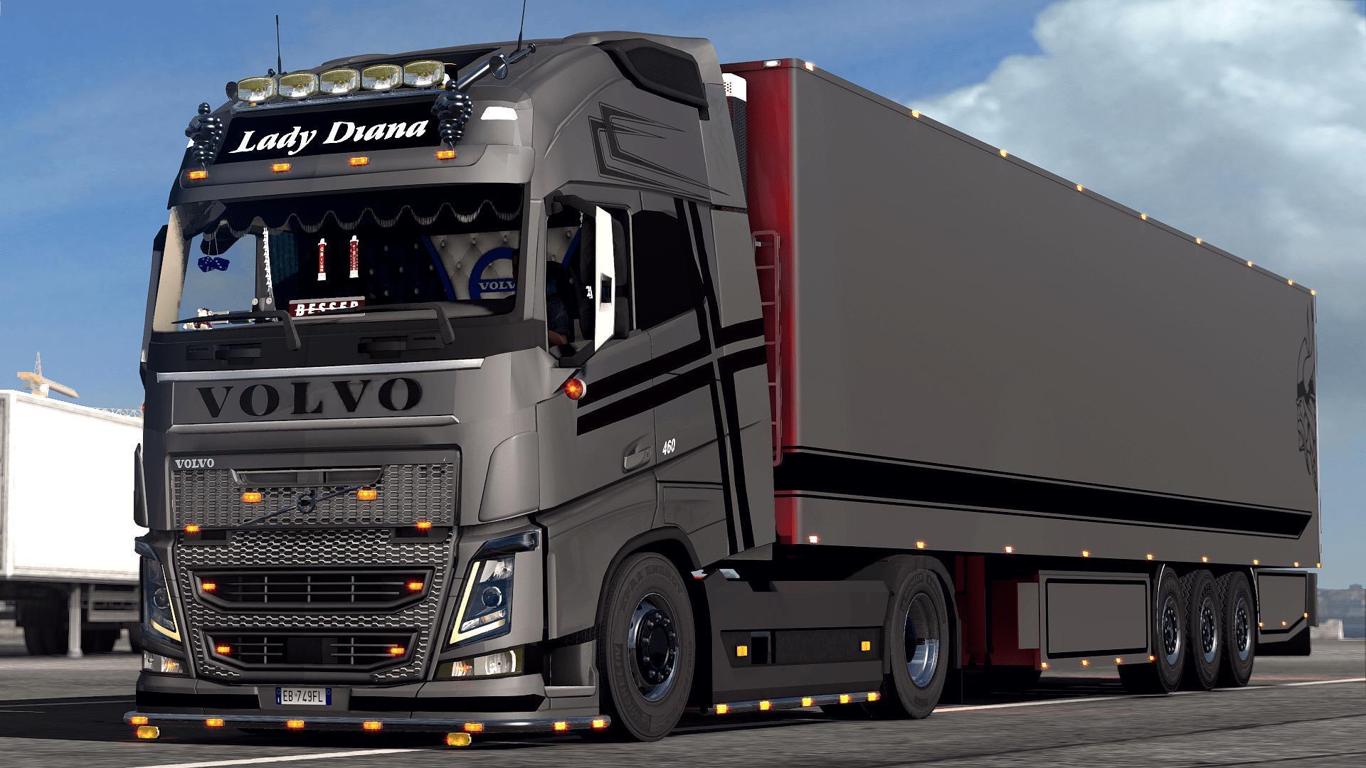 ETS2 - Volvo Lady Diana Truck (1.35.X)