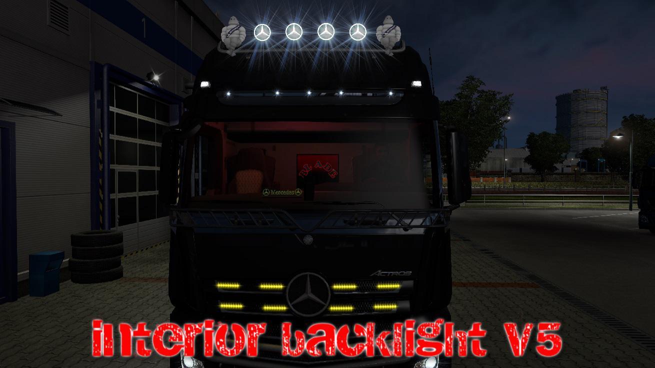 ETS2 - Interior Back Lights V5 (1.36.x)