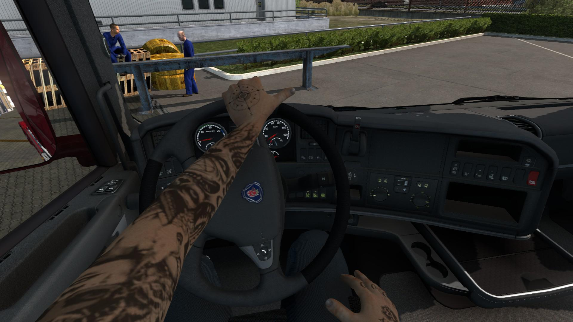 ETS2 - Animated Hands for Driver (1.39.x)