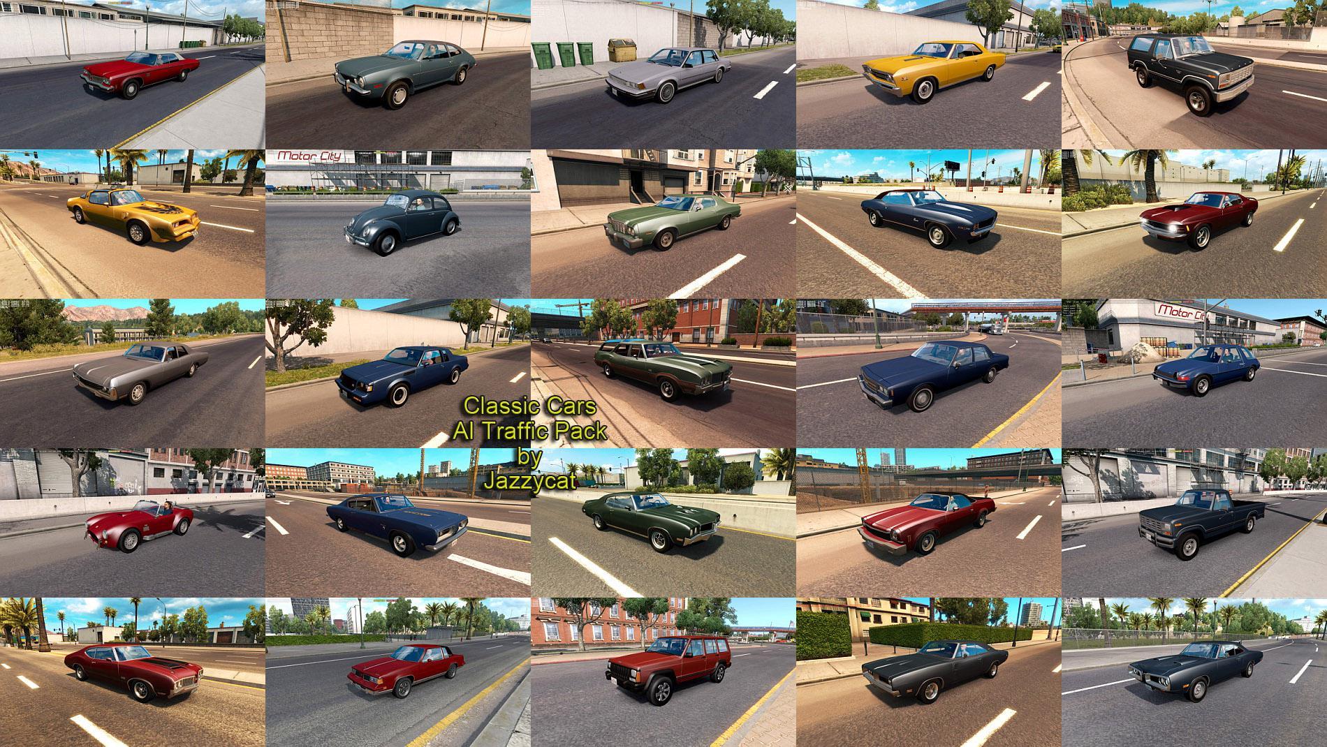 ATS - Classic Cars AI Traffic Pack V4.0 (1.35.X)