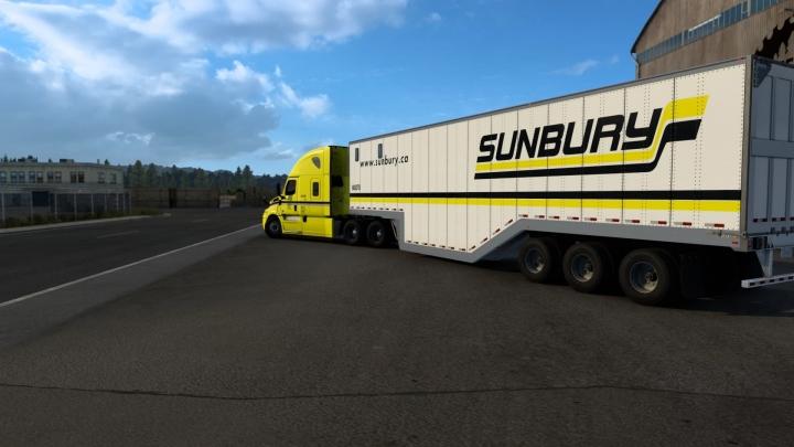 ATS - Sunbury Transport Cascadia and Chip Van Combo V1.0 (1.40.x)