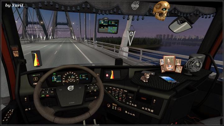 ETS2 - Dark Interior Volvo FH16 2012 V0.9 (1.39.x)
