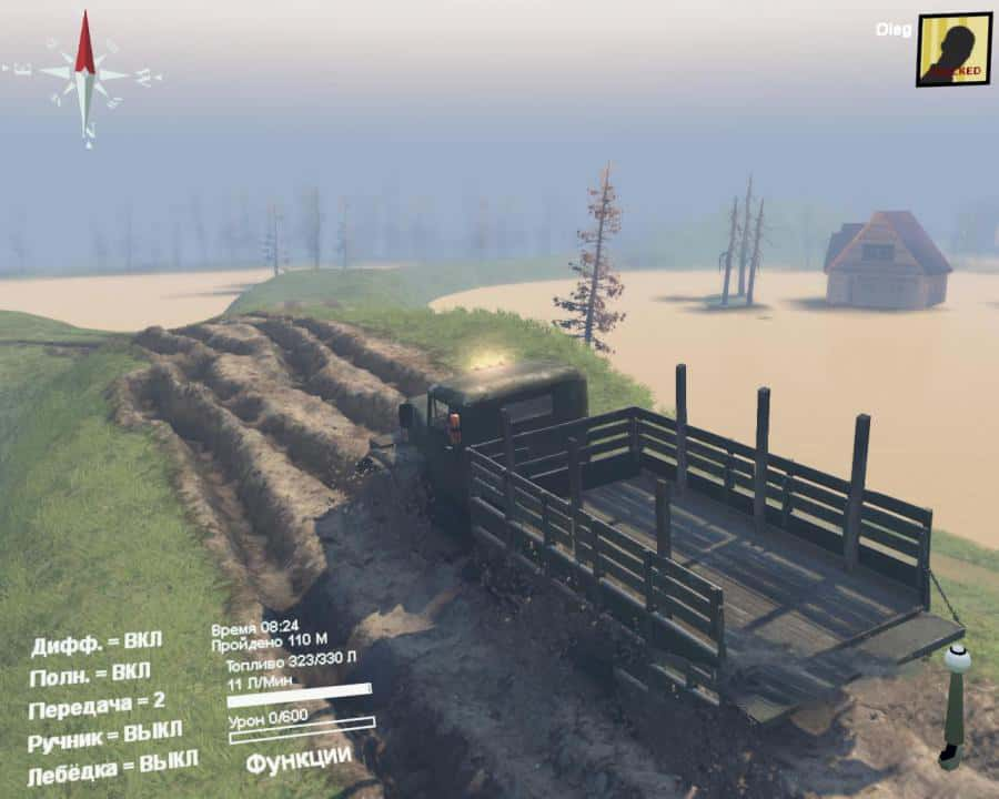 Spintires - Behind the Wheel Map V0.1