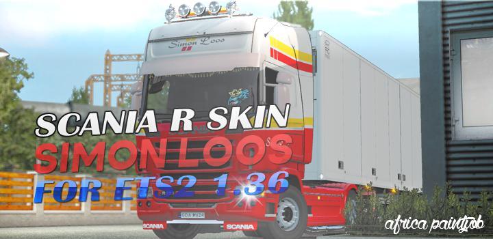 ETS2 - Simon Loos - Africa Paintjob - Skin (1.36.x)